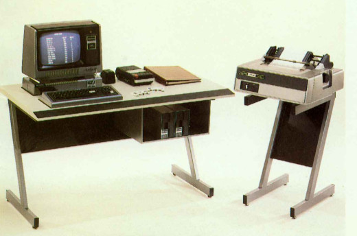 TRS-80 System Desk with Line Printer Stand