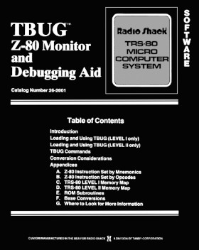 Cover of the T-BUG manual