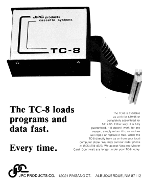 JPC Products advertisement for the TC-8