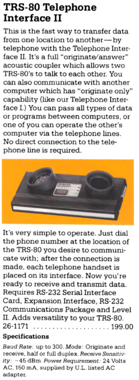The TRS-80 Telephone Interface II