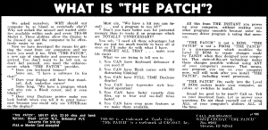 The Patch advertisement by CECDAT