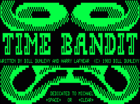 Time Bandit title screen