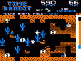 TRS-80 Color Computer version of Time Bandit