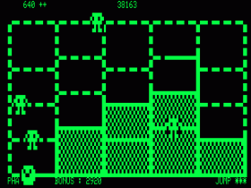 Six squares are captured in Time Runner