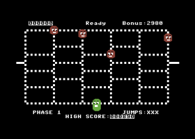 Phase 1 of Timer Runner on the Commodore 64