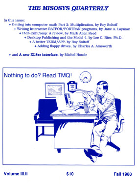 Fall 1988 issue of The MISOSYS Quarterly