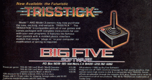 Advertisement for the TRISSTICK published in 80 Microcomputing