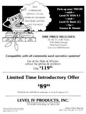 Level IV Products advertisement