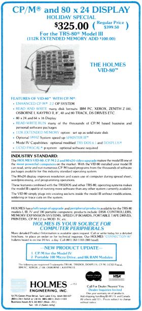 Holmes Engineering VID-80 advertisement