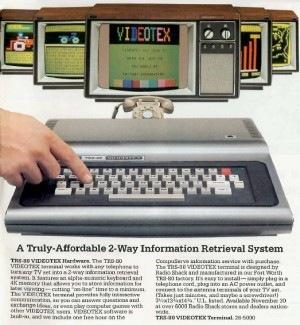 TRS-80 VIDEOTEX advertisement