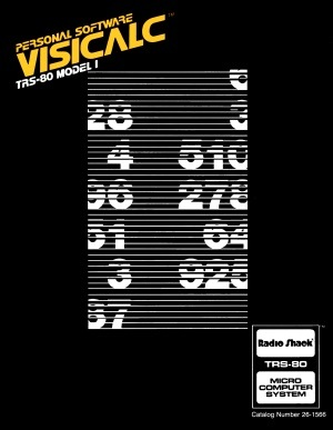 Cover of Model I VisiCalc manual