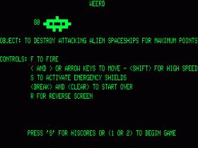 Instructions screen for Weerd