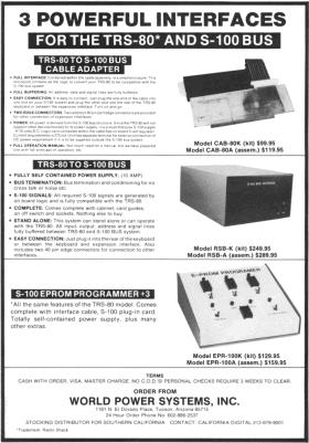 World Power Systems advertisement